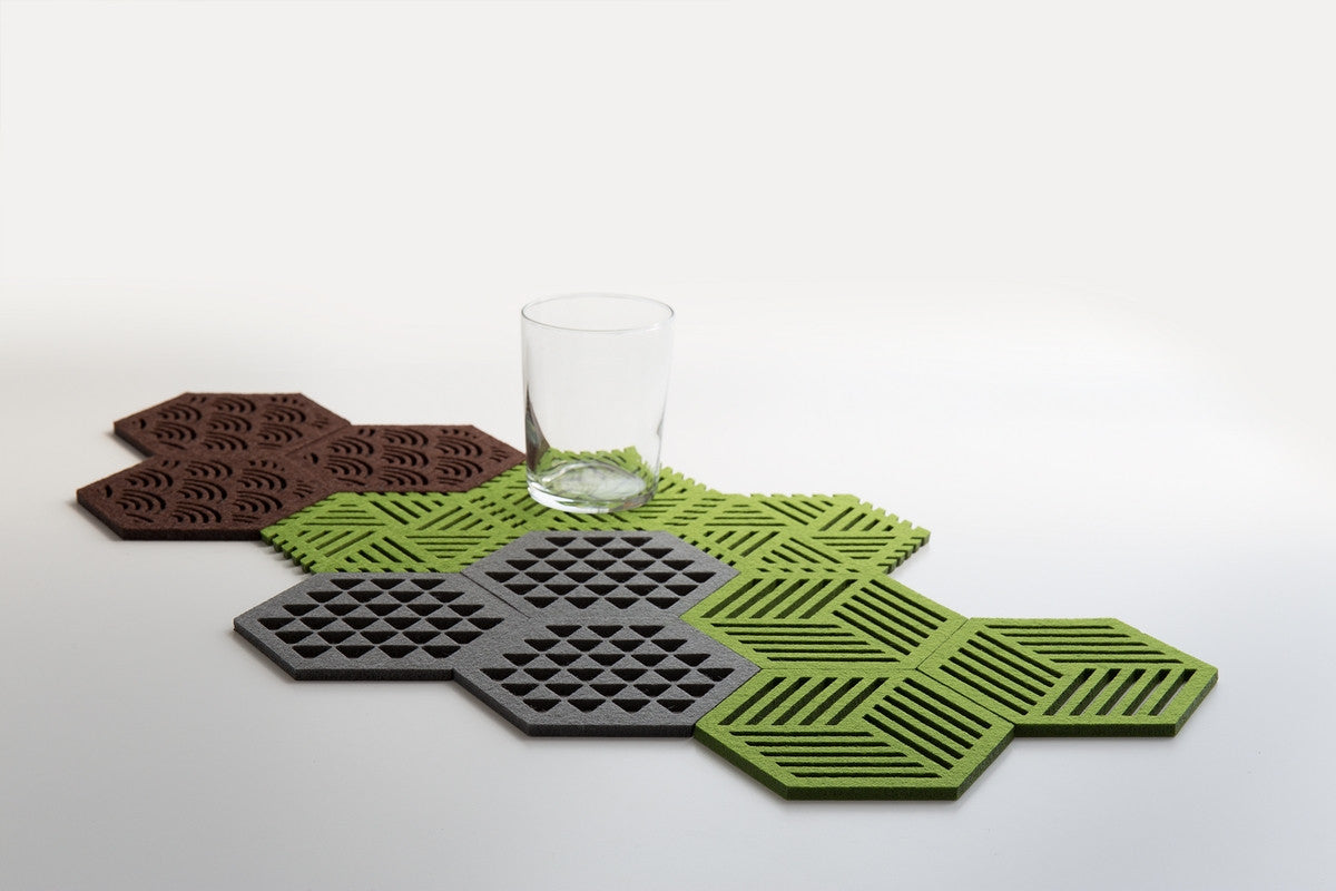HEXAGON COASTERS TREES