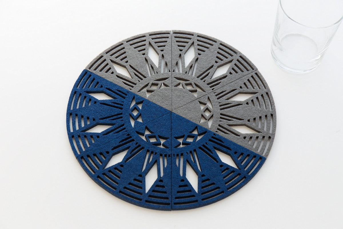 PIE-SHAPED COASTERS PLATE