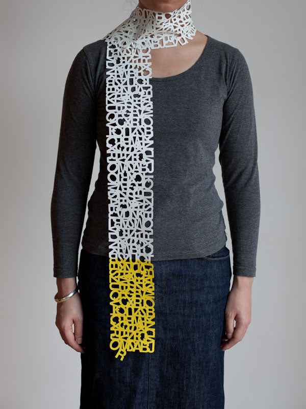 HELVETICA SCARF TWO TONE