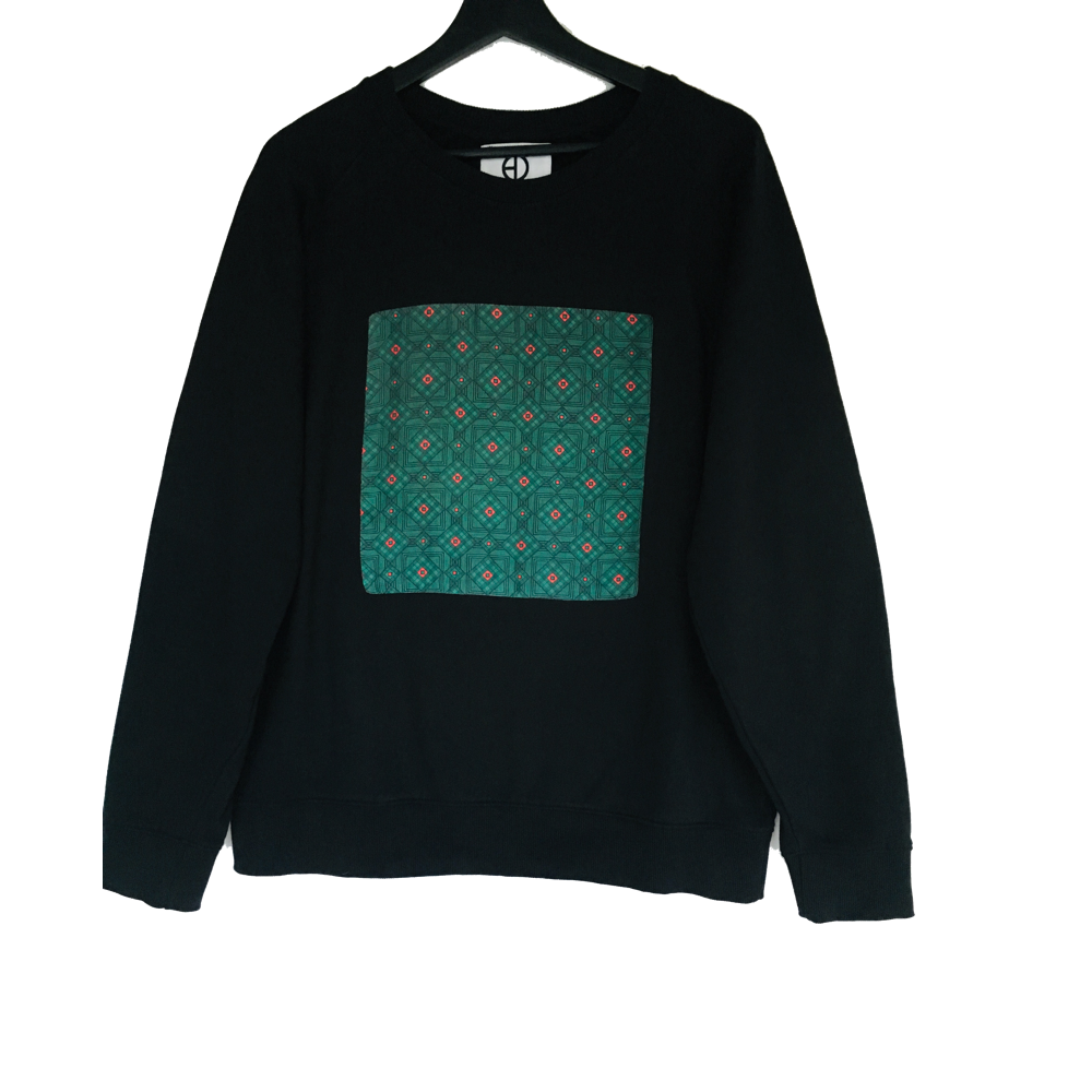 GREEN AND BLACK SWEATER - IKIGAI LABELS