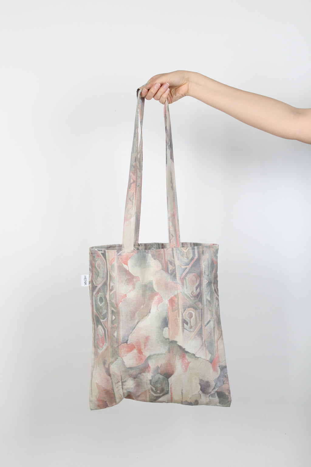 GREY AND PALE PINK TOTE BAG - IKIGAI LABELS