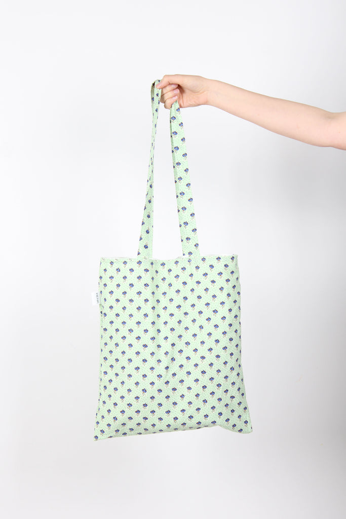 MINT GREEN TOTE BAG - IKIGAI LABELS