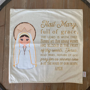 Hail Mary Minky Lovey Blanket. Baby Prayer Blanket. Minky Lovie Blanket. Baby Nursery. Baptism Gift. Catholic Baby Gift. Hail Mary Gift.