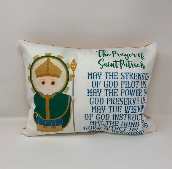 St. Patrick prayer pillow. St. Patrick prayer pillow. Christian Catholic Gift. Baptism Gift. Saint pillow. First Holy Communion gift.