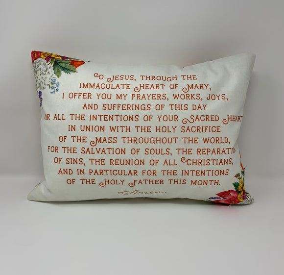 Morning Offering to the Sacred Heart pillow. Children's pillow. Christian Catholic Gift. First Communion Gift. Morning Offering pillow