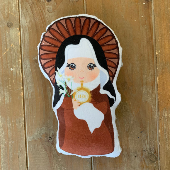 St. Clare of Assisi Stuffed Saint Doll. Saint Gift. Easter Gift. Baptism. Catholic Baby Gift. Saint Clare of Assisi Gift. St. Clare Doll.