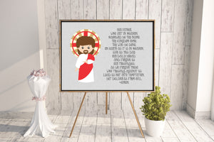 Our Father Prayer poster print. Our Father Wall Art. Nursery Art. Kids Room Print. Prayer Print Poster. Catholic Poster. Catholic gift
