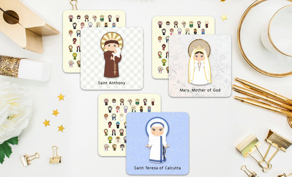 Saint Memory Game Card Set. Set of 20 Saint Memory Cards. First Communion Gift. Baptism Gift. Catholic Gift. Saint matching game. Saint Card