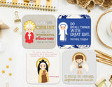 "3"" Vinyl Waterproof Saint Stickers. Kids Water bottle Saint Stickers. First Communion. Saint Decal. Catholic Gift. Catholic Saint Stickers"