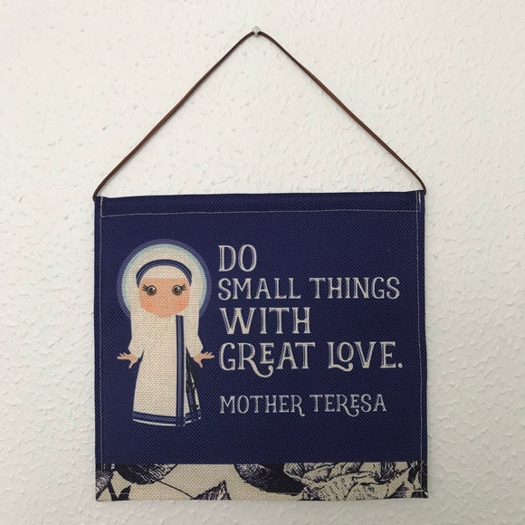 Saint Mother Teresa Wall Hanging. Mini St Mother Teresa Kids Wall Art. Saint Wall Hanging. Kids Room Art. St teresa gift. Catholic Art.