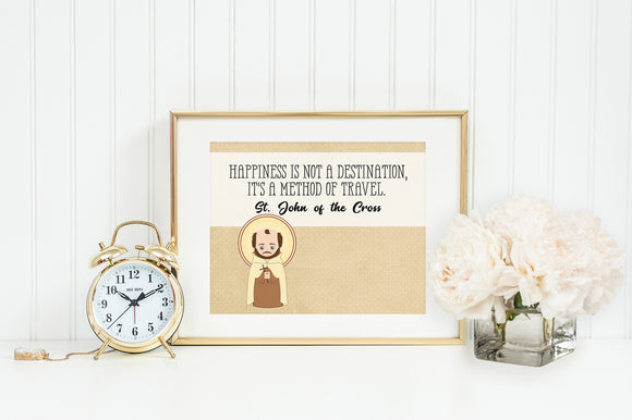Saint John of the Cross poster print. St. John Wall Art Poster. First Communion. Kids Room. Prayer Poster. Catholic Poster. Baptism Gift