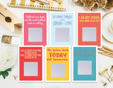 Scratch off Catholic Saint Quote Cards. Saint Note Cards. Scratch off Saint Notes. Catholic Gift. JPII, Mother Teresa, St Therese, St Max
