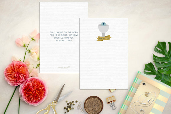 First Communion Thank You Note Cards. Chalice Note Card. First Communion Note. Catholic Note. First communion. First Holy Communion.