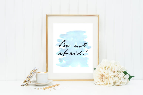 JPII Be Not Afraid poster print. John Paul II Wall Art Poster. Nursery Art. Kids Room. Prayer Print. Catholic. Be Not Afraid wall art..