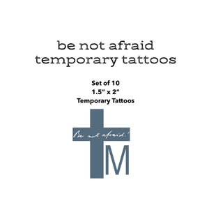 Be Not Afraid Temporary Tattoo Set. First Holy Communion Gift. JPII gift. Saint John Paul II Tattoo. Catholic Gift. Catholic Tattoo.