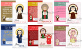Inspirational Women Saints Learning Cards. Set of 27 Catholic Women Saint Cards. First Communion. Baptism. Catholic Gift. Saint Learning.