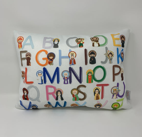 Saint ABC pillow. Catholic Saints pillow. Christian Catholic Gift. Baptism Gift. Saint pillow. Mother Teresa. JPII. St. Therese. ABC pillow.