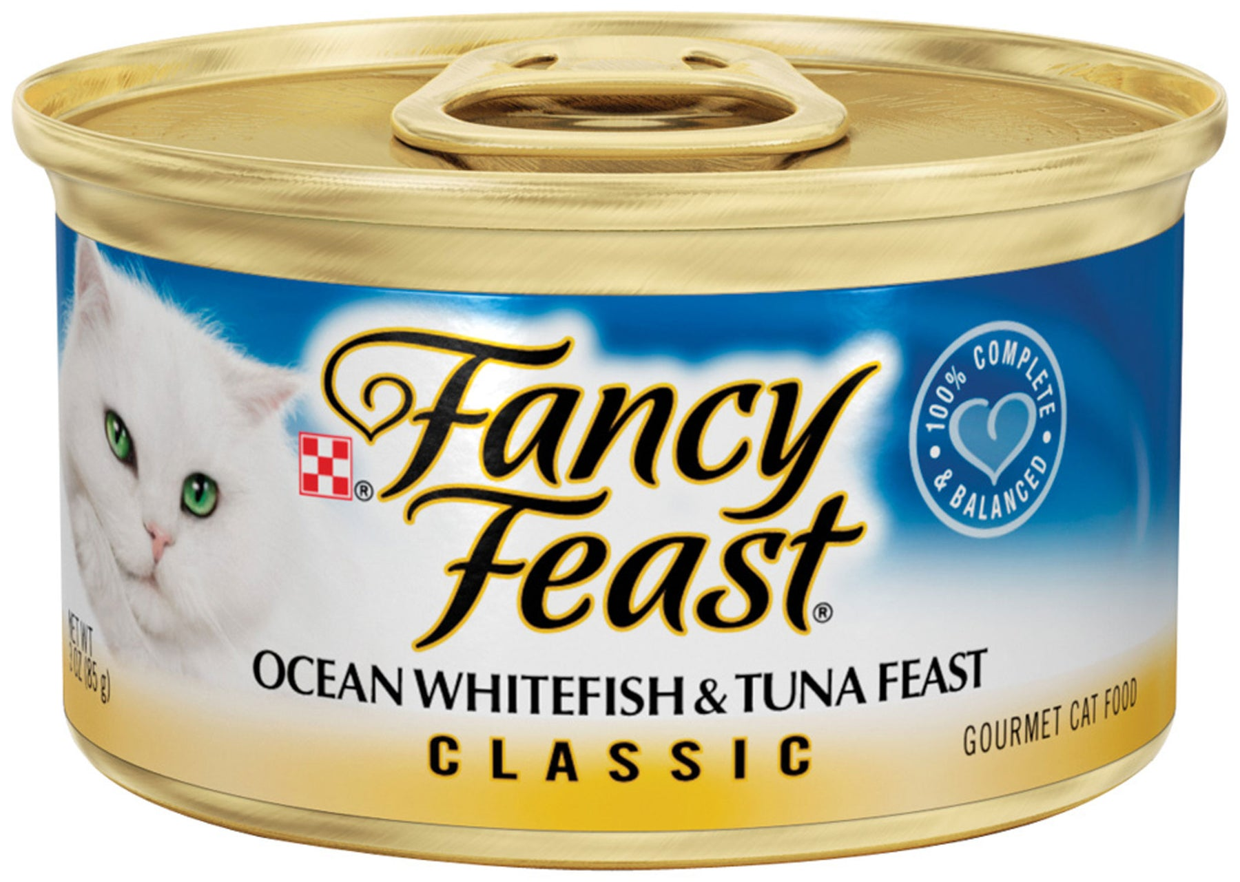 Fancy Feast Classic Ocean Whitefish and Tuna Canned Cat Food