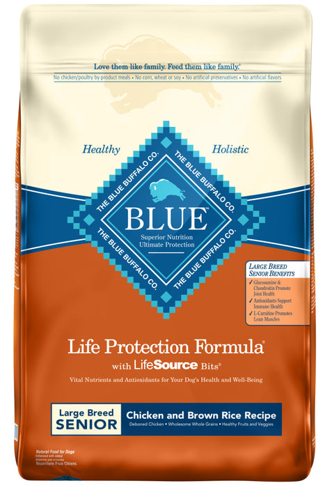 Blue Buffalo Life Protection Chicken & Brown Rice Recipe Large Breed Senior Dry Dog Food