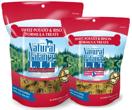 Natural Balance L.I.T. Limited Ingredient Treats Sweet Potato and Bison Formula Dog Treats