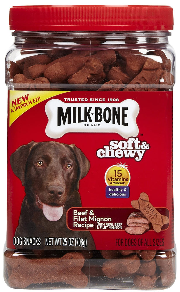 Milk-Bone Soft and Chewy Treats-Beef Filet Mignon