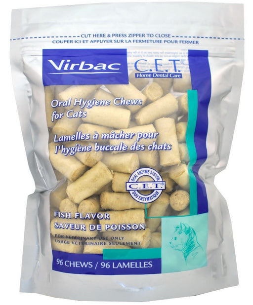 Virbac C.E.T. Fish Flavor Oral Hygiene Chews for Cats