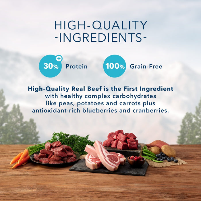 Blue Buffalo Wilderness Rocky Mountain Grain Free Natural Red Meat High Protein Recipe Dry Dog Food