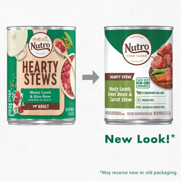 Nutro Hearty Stew Grain Free Meaty Lamb, Green Bean & Carrot Stew Adult Canned Dog Food