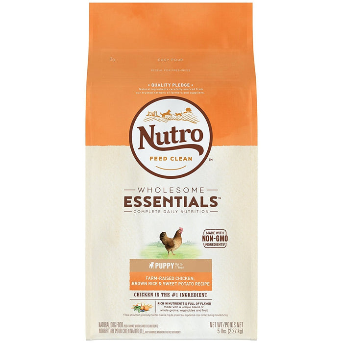 Nutro Wholesome Essentials Puppy Farm-Raised Chicken, Brown Rice & Sweet Potato Dry Dog Food