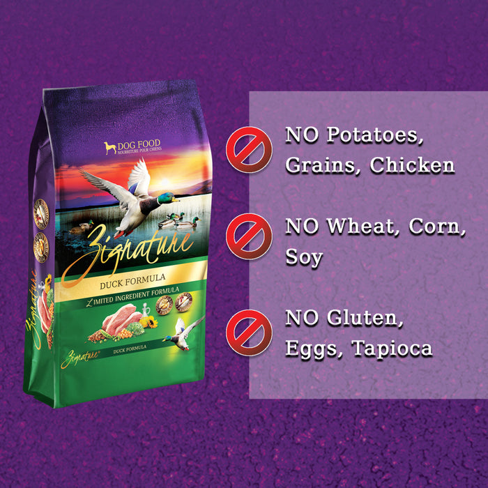 Zignature Limited Ingredient Diet Grain Free Duck Recipe Dry Dog Food