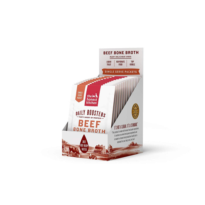 The Honest Kitchen Daily Boosters Beef Bone Broth with Tumeric for Cats & Dogs