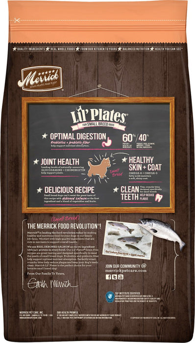 Merrick Lil' Plates Small Breed Grain Free Real Salmon & Sweet Potato Dry Dog Food