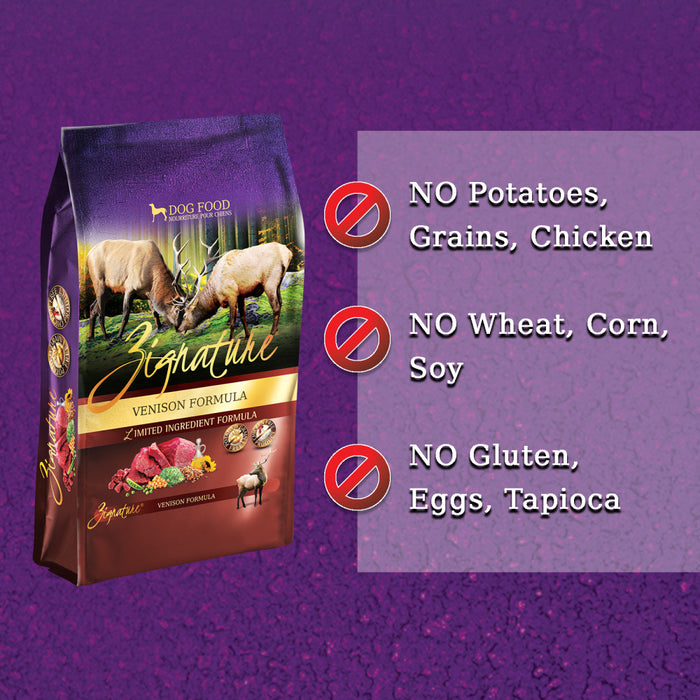 Zignature Limited Ingredient Diet Grain Free Venison Recipe Dry Dog Food