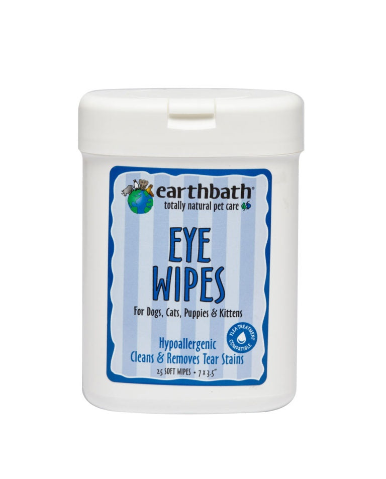 Earthbath Eye Wipes for Dogs and Cats