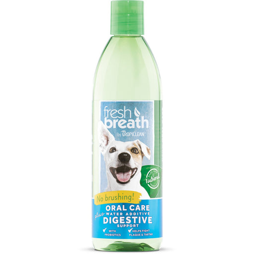 Tropiclean Fresh Breath Water Additive Plus Digestive Support for Dogs & Cats