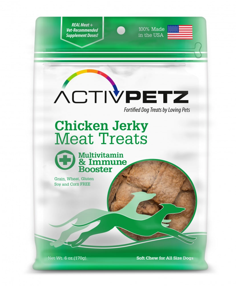 Loving Pets AcitvPetz Grain Free Chicken Jerky Multivitamin and Immune Maintenance Dog Treats