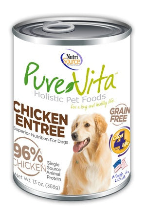 PureVita Grain Free 96% Real Chicken Entree Canned Dog Food