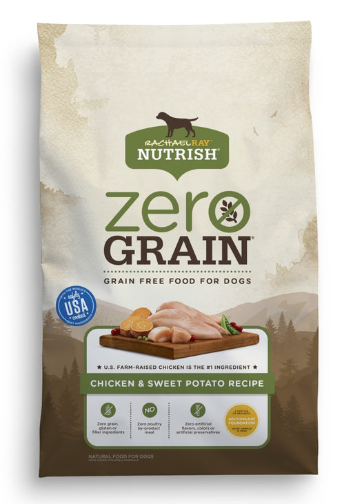 Rachael Ray Nutrish Zero Grain Natural Chicken & Sweet Potato Recipe Dry Dog Food