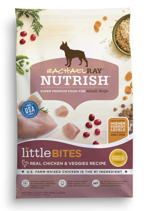 Rachael Ray Nutrish Little Bites Small Breed Chicken & Veggies Recipe Dry Dog Food