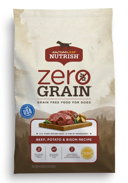 Rachael Ray Nutrish Zero Grain Natural Beef, Bison, & Potato Dry Dog Food