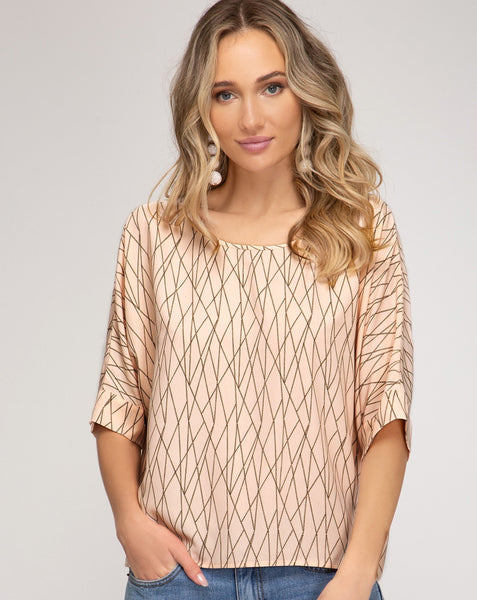 Drop shoulder geo top