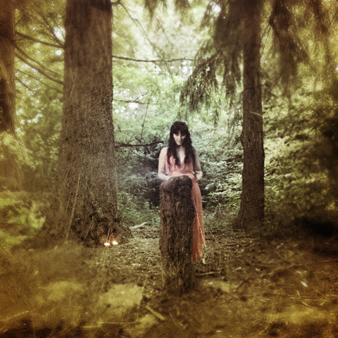 Christi Meshell in the Snoqualmie Forest - Photo by Tim Girvin