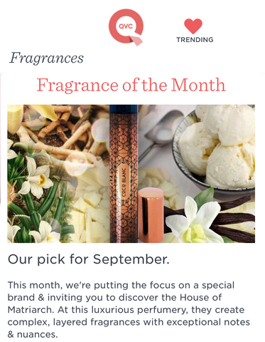QVC Fragrance of the Month - COCO BLANC September 2017