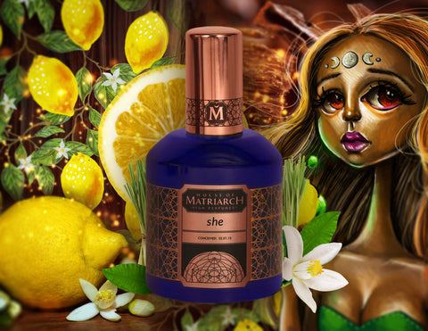 """she"" High Fragrance with Malysian oud and 1970's vintage Zanzibari lemongrass"