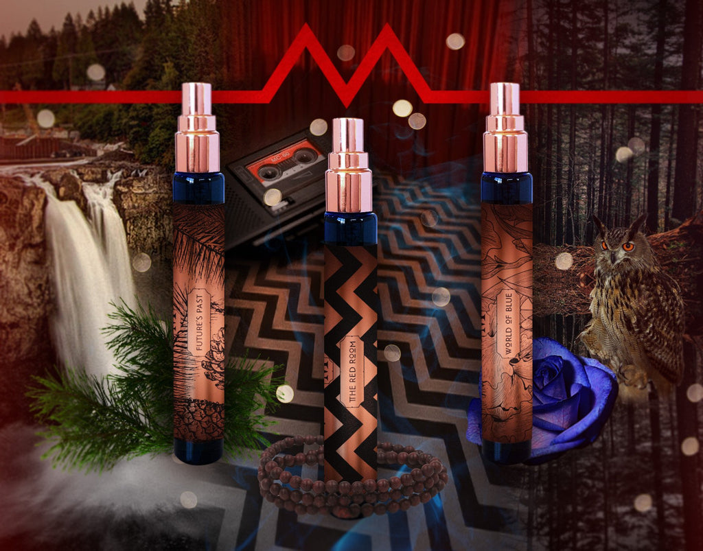 "House of Matriarch - Nature is the Ultimate Luxury. High Perfumery by Christi Meshell Official Twin Peaks Fragrance Collection ""Wonderful & Strange Liquid Music Trio"""