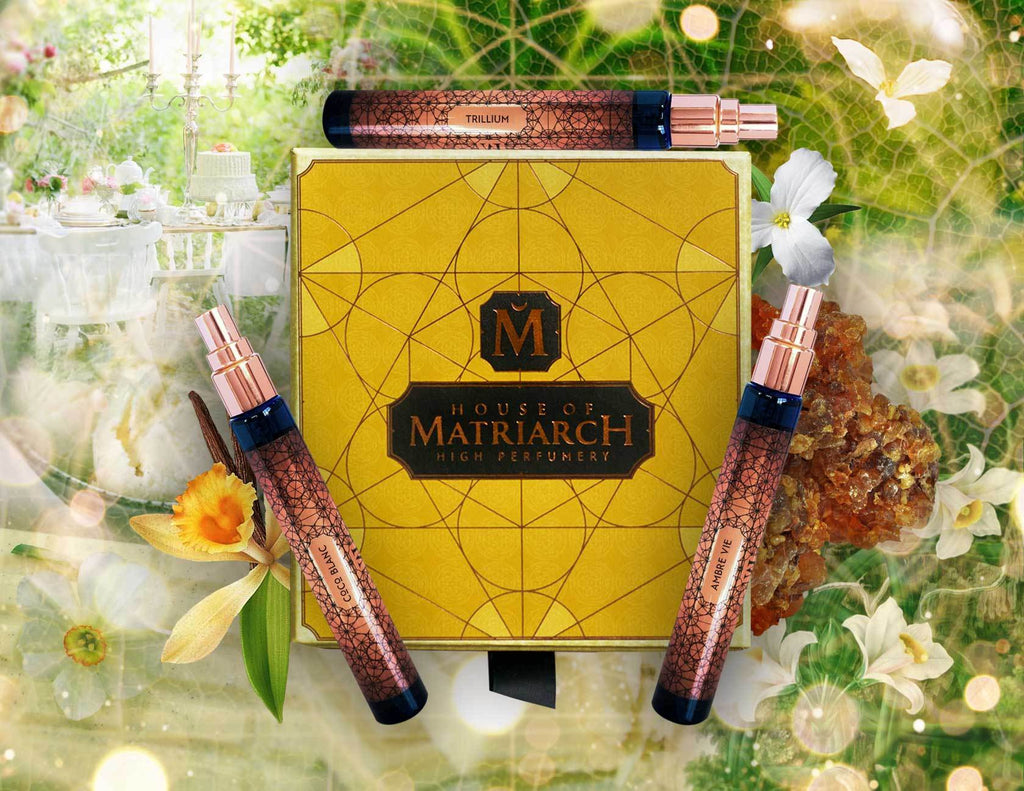 House of Matriarch - Nature is the Ultimate Luxury. High Perfumery by Christi Meshell Vegan Trio with Collector's Presentation