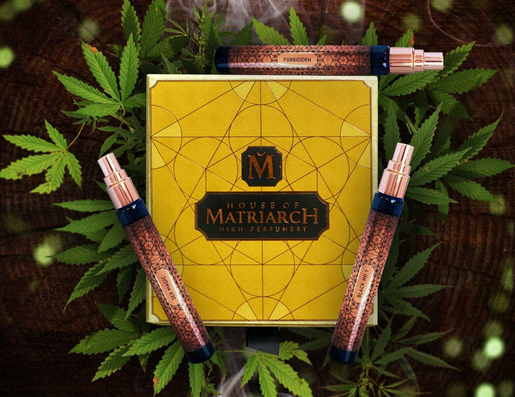 House of Matriarch - SEATTLE, WA - Natural, Organic, Vegan, Artisan & Niche High Perfumery Cannabis Trio with Collector's Presentation