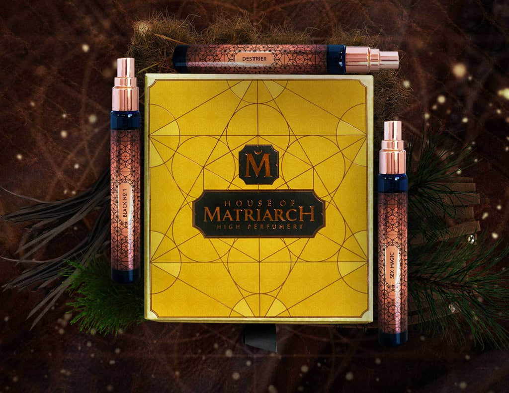 House of Matriarch - SEATTLE, WA - Natural, Organic, Vegan, Artisan & Niche High Perfumery Leather Trio with Collector's Presentation