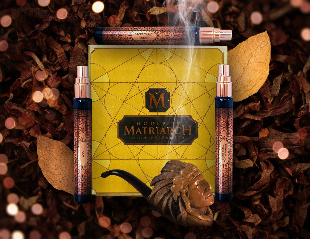 House of Matriarch - SEATTLE, WA - Natural, Organic, Vegan, Artisan & Niche High Perfumery Tobacco Trio with Collector's Presentation