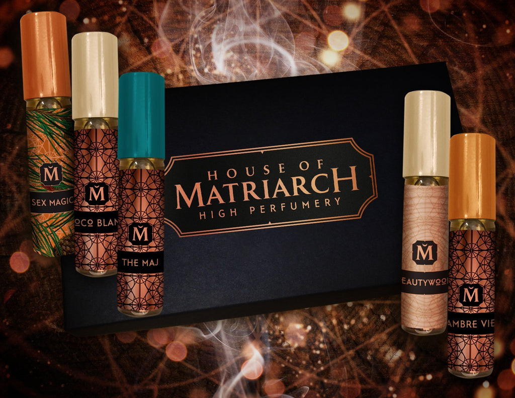Matriarch Perfumes Noble Woods Discovery Set: Fragrance Samples with Natural Woods